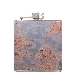 錆ついた金属のフラスコ フラスク