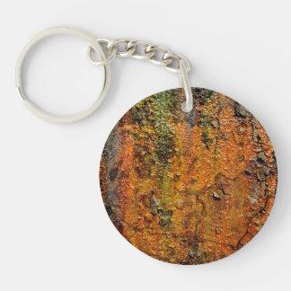錆ついた金属の抽象芸術のグランジな芸術 キーホルダー