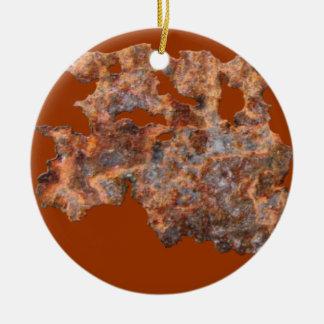 錆ついた金属の素朴な腐食された錫効果 セラミックオーナメント