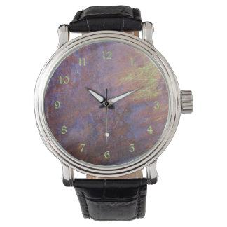 錆ついた金属の錫の屋根 腕時計