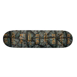 錆ついた鉄のハートのグラフィックアートのカッコいいのスケートボード 20.6CM スケートボードデッキ