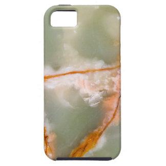 錆ついた静脈が付いているセージグリーンの水晶 iPhone SE/5/5s ケース