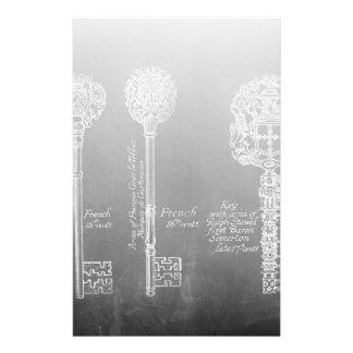 錆ついた黒板のビクトリアンなsteampunkの合い鍵 便箋