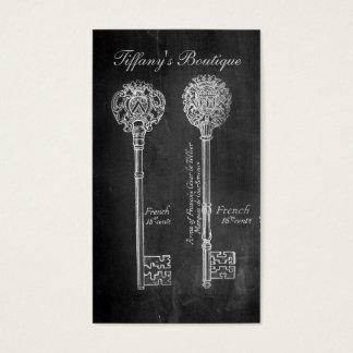 錆ついた黒板のビクトリアンなsteampunkの合い鍵 名刺