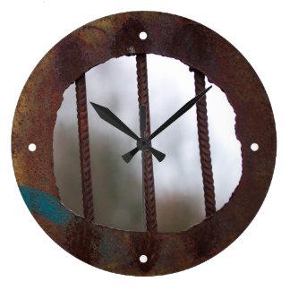 錆つかせたバーの柱時計 ラージ壁時計