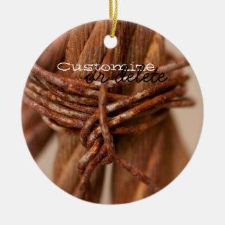 錆つかせたワイヤーが付いている編みこみの鎖; カスタマイズ可能 セラミックオーナメント
