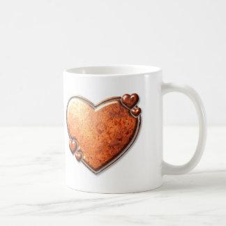 錆つかせた銅のハートのマグ コーヒーマグカップ