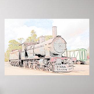 錆つく蒸気の列車 ポスター