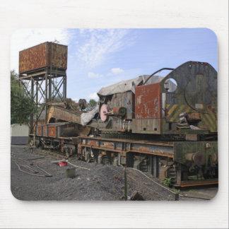 錆つく鉄道の遺物のマウスパッド マウスパッド