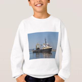 錆によって縞にされる漁船 スウェットシャツ