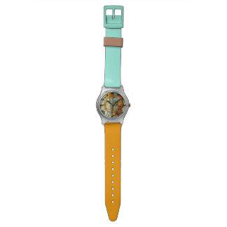 錆のグランジなSteampunkのペンキの運命 腕時計