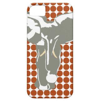 錆のポップアート象が付いている赤いサファリの点 iPhone SE/5/5s ケース