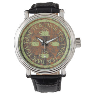 錆の茶時間緑 腕時計