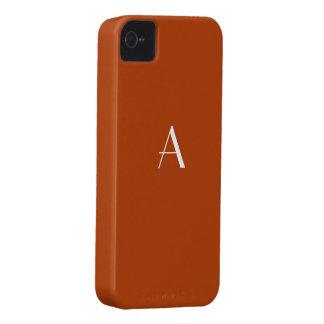 錆の赤いiPhone4モノグラムの箱 Case-Mate iPhone 4 ケース