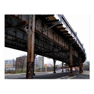 錆の跨線橋サポート郵便はがき ポストカード