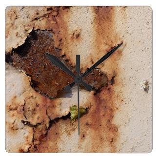 錆または錆の種類の色 スクエア壁時計