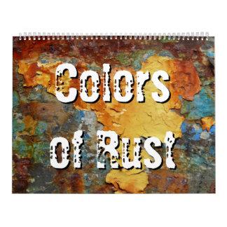 錆または錆芸術の色 カレンダー