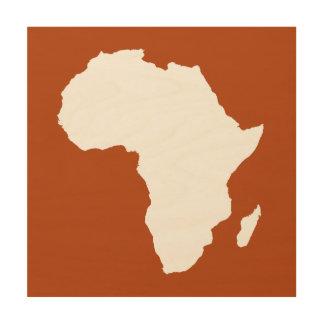 錆赤く大胆なアフリカ ウッドウォールアート