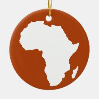 錆赤く大胆なアフリカ セラミックオーナメント