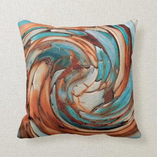 錆Nの青い抽象美術の装飾用クッション クッション