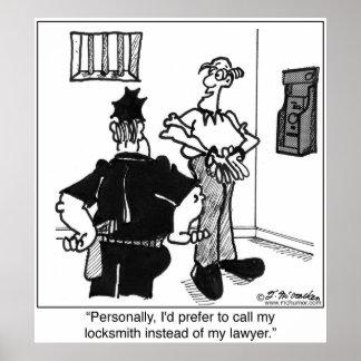錠前屋弁護士ではなくを電話して下さい ポスター