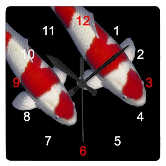 錦鯉 , KOI スクエア壁時計