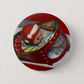 錫のおもちゃの宇宙かロケットの船ボタンのバッジ 缶バッジ