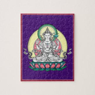 錫- Chenrezig -同情の仏のパズル ジグソーパズル
