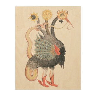 錬金術のドラゴン色 ウッドウォールアート