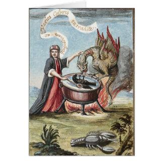 錬金術の大がまの手品師そしてドラゴン カード