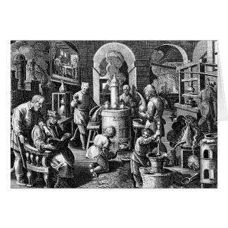 錬金術の実験室の蒸留 カード