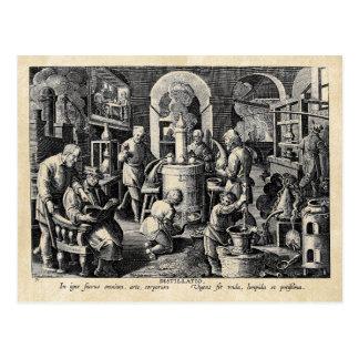 錬金術の実験室の蒸留 ポストカード