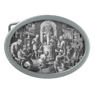 錬金術の実験室の蒸留 卵形バックル