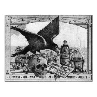 錬金術の実験室の郵便はがき ポストカード
