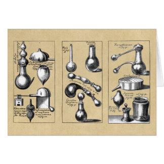 錬金術の実験室ビーカーおよび用具 カード