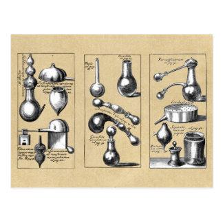 錬金術の実験室ビーカーおよび用具 ポストカード