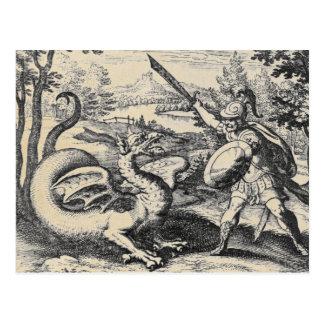 錬金術の郵便はがきのドラゴン ポストカード