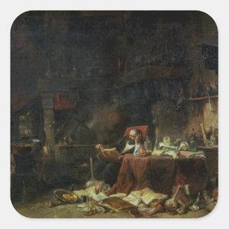 錬金術師の勉強のインテリア スクエアシール