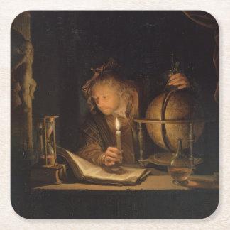 錬金術師の哲学者の読書 スクエアペーパーコースター