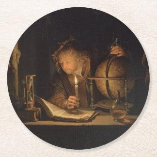 錬金術師の哲学者の読書 ラウンドペーパーコースター