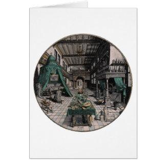 錬金術師の実験室-ハインリッヒKhunrath - 1595年 カード