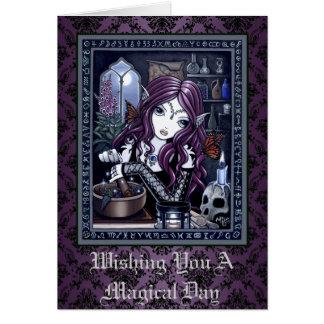 """""""錬金術師""""のゴシック様式魔法の妖精の芸術カード カード"""