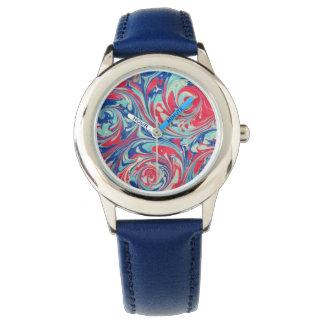 「錬金術」の大理石模様をつけられた腕時計 腕時計