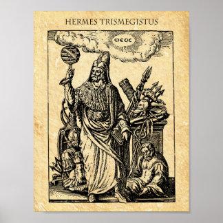 錬金術HERMES TRISMEGISTUS ポスター