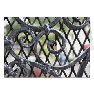 錬鉄のゲートの北西側ニューヨークNYC カード