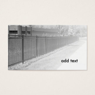 錬鉄の塀の白黒イメージ 名刺