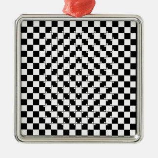 錯覚のコレクション。 項目3 シルバーカラー正方形オーナメント