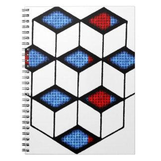 錯覚のブロック ノートブック
