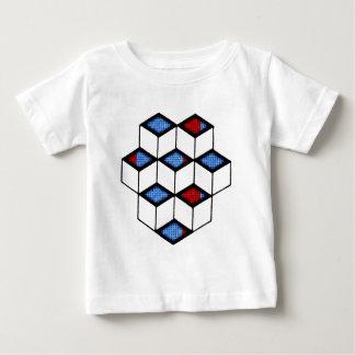 錯覚のブロック ベビーTシャツ