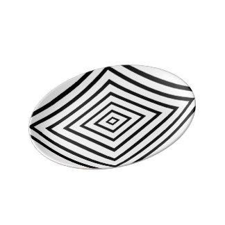 錯覚のプレート 磁器プレート